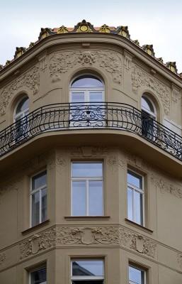 detail rohu fasády