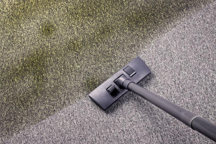 28294107 - vacuuming very dirty carpet